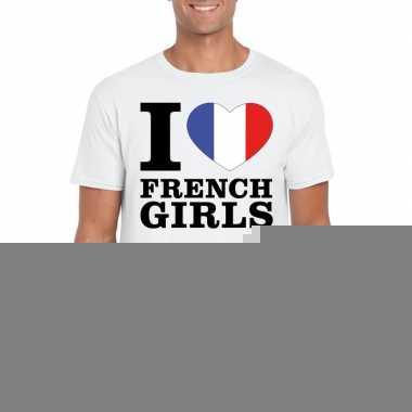 I love french girls t-shirt wit heren