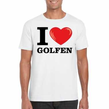 I love golfen t-shirt wit heren