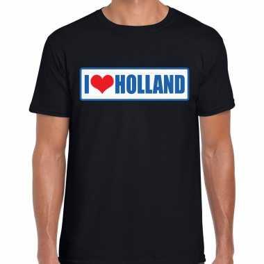 I love holland landen t-shirt zwart heren