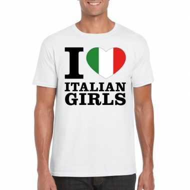 I love italian girls t-shirt wit heren