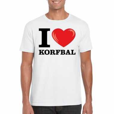 I love korfbal t-shirt wit heren
