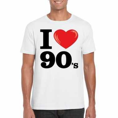 I love nineties t-shirt wit heren