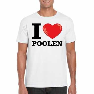 I love poolen t-shirt wit heren