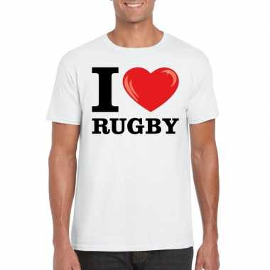I love rugby t-shirt wit heren