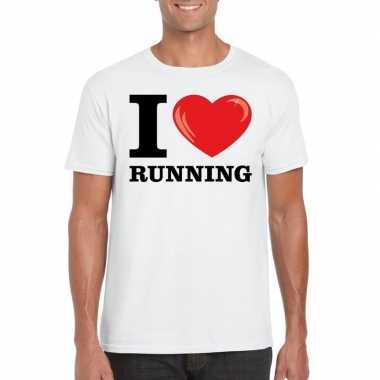 I love running t-shirt wit heren