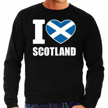 I love scotland sweater / trui zwart voor heren