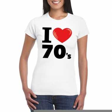 I love seventies t-shirt wit dames