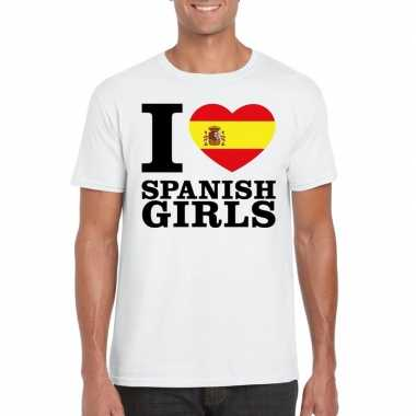 I love spanish girls t-shirt wit heren