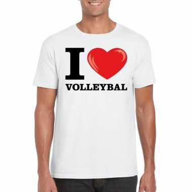 I love volleybal t-shirt wit heren