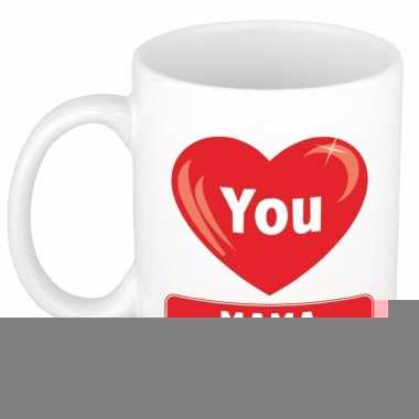 I love you mama cadeau koffiemok / beker 300 ml