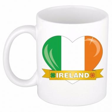 Ierse vlag hartje theebeker 300 ml