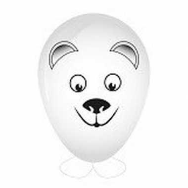 Ijsbeer ballon versieren 27 cm
