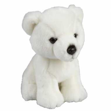 Ijsberen speelgoed artikelen ijsbeer knuffelbeest wit 18 cm