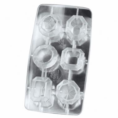 Ijsblokjes vormen diamanten 6 stuks