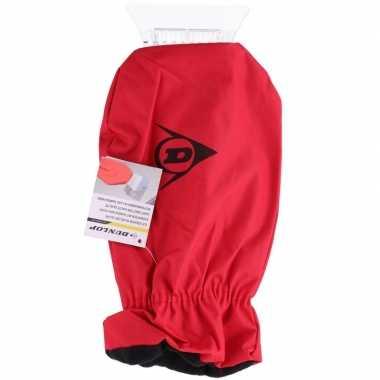 Ijskrabber met warme handschoen rood 35 cm