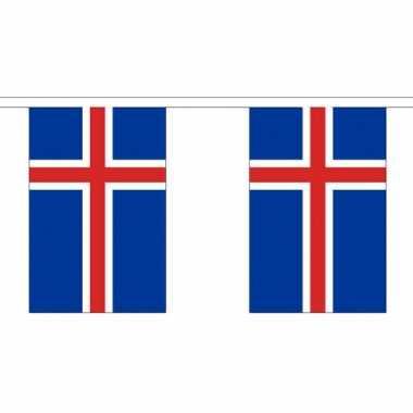 Ijsland vlaggenlijn van stof 3 m