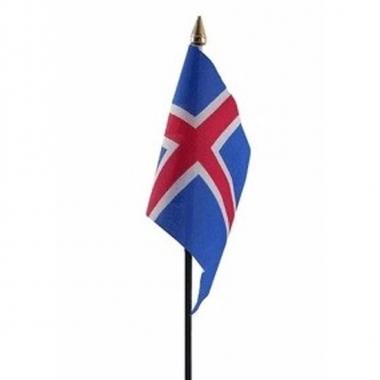 Ijsland vlaggetje met stokje