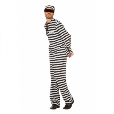 Inbreker kostuum zwart/wit voor heren