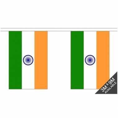 India vlaggenlijn van stof 3 m