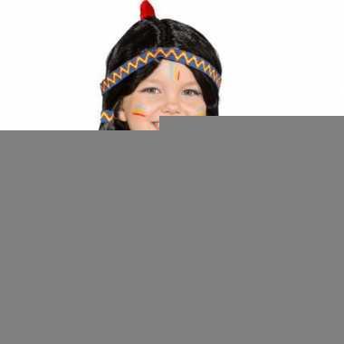 Indianen kinderpruik met staartjes