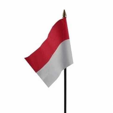 Indonesie vlaggetje met stokje