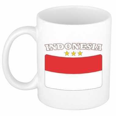 Indonesische vlag theebeker 300 ml