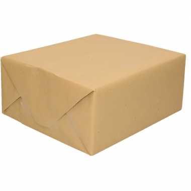 Inpakpapier bruin 500 x 70 cm op rol