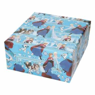 Inpakpapier/cadeaupapier disney frozen elsa en anna 200 x 70 cm