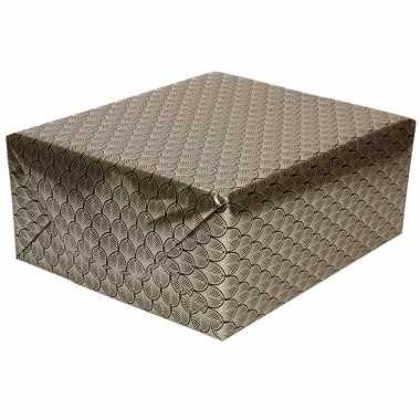 Inpakpapier/cadeaupapier zwart/goud art deco print 150 x 70 cm