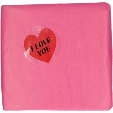 Inpakpapier decoratie hart cadeausticker 9 cm