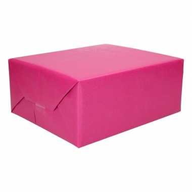 Inpakpapier dubbelzijdig roze/licht blauw 200 x 70 cm