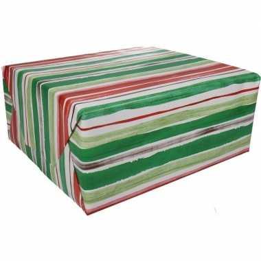 Inpakpapier gestreept 200 x 70 cm op rol