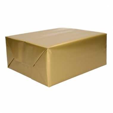 Inpakpapier goud 70 x 200 cm trend
