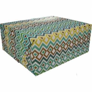 Inpakpapier met gekleurd motief 200 x 70 cm op rol type 3
