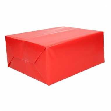 Inpakpapier rood 70 x 200 cm trend