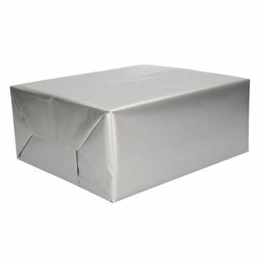 Inpakpapier zilver 70 x 200 cm trend