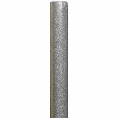 Inpakpapier zilver/glitters 70 x 150 cm
