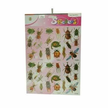 Insecten stickertjes op een vel