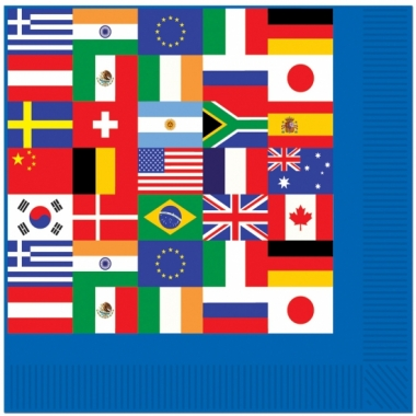 Internationale servetjes 16 stuks