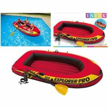 Intex opblaas boot met peddels en pomp 244 cm