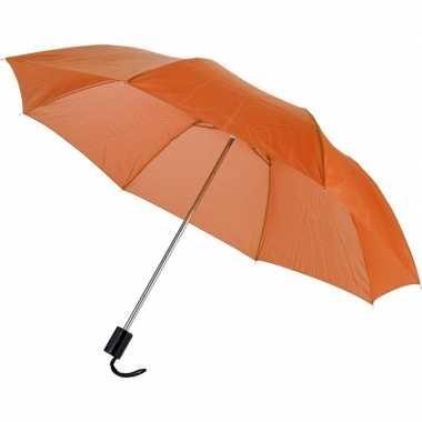 Invouwbare paraplu oranje 56 cm