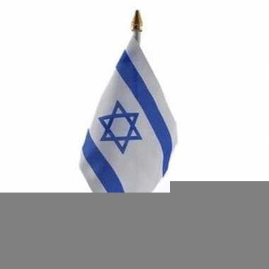 Israel vlaggetje met stokje