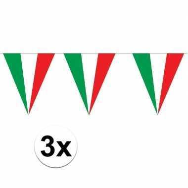 Italiaanse versiering vlaggenlijn 3 stuks