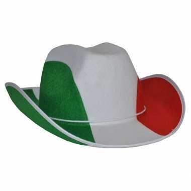 Italiaanse vlag cowboyhoed