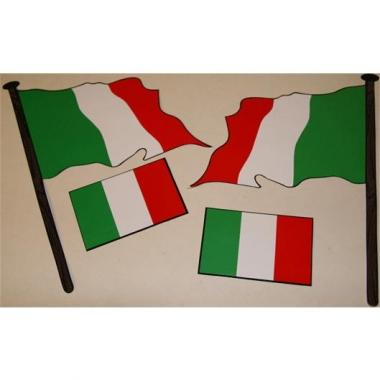 Italiaanse vlaggen stickers