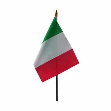 Italie vlaggetje met stokje