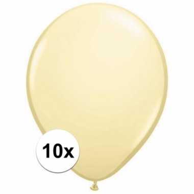 Ivoren decoratie ballonnen 10 stuks