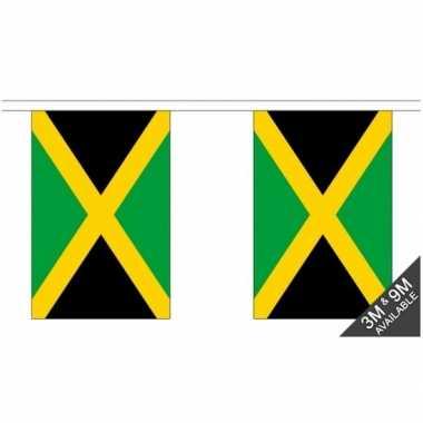 Jamaica vlaggenlijn van stof 3 m
