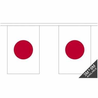 Japan vlaggenlijn van stof 3 m