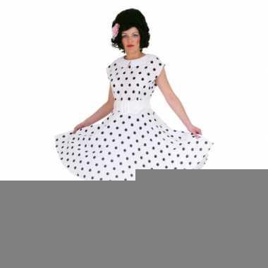 728208c0d19b2d Jaren 50 rock n roll jurk wit zwart